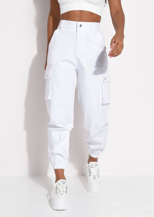 Tizamol Pantalon Cargo Jogger De Mujer Para Tela Gabardina